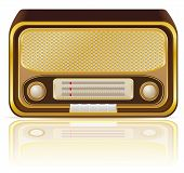 Retro Radio Vector Illustration