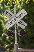 Country Railroad Crossing Sign