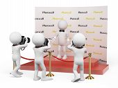 Постер, плакат: 3D White People Celebrity In A Photocall
