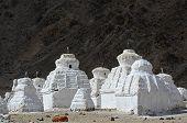 White Stupas