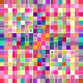 Multicolored small blocks abstract background illustration.