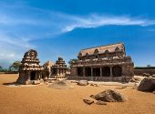stock photo of tamil  - Five Rathas  - JPG