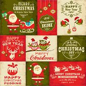 Vector set of Christmas symbols