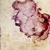Abstract yellow background or paper with grunge background texture and purple stain. For vintage lay