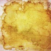 Abstract yellow and brown background or paper with grunge texture. For vintage layout design of colo