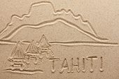 Tahiti Handwritten From  Sand