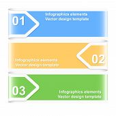 Numbered Arrow Banners. Infographics Elements. Vector Illustration