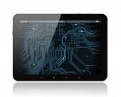 Tablet PC with circuit board