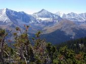 stock photo of colorado high country  - High country magic with the first snows of the season. ** Note: Slight blurriness, best at smaller sizes - JPG