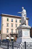 The statue of Grand Duke Ferdinand III on Piazza della Republica in Livorno, Italy