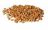 Sichuan Pepper, Szechwan Pepper Or Szechuan Pepper, A Common Spice Used In Asian Cuisine,on A White