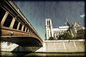 Bridge, River And Notre Dame