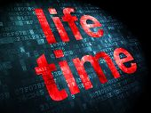Timeline concept: Life Time on digital background