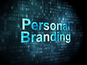 Marketing concept: Personal Branding on digital background