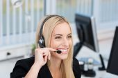 Friendly Call Centre Operator Or Receptionist