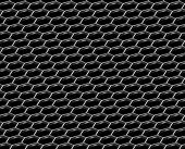 Steel Grid With Hexagonal Holes Diagonal Seamless Background