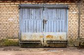 old garage gate