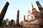 Sukothai ancient temple buddha thailand