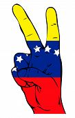 Peace Sign of the Venezuelan flag