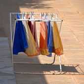 Colorful Towels On Dryer