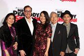 LOS ANGELES - MAR 5:  Rob Minkoff, Crystal Kung, family, Jeffrey Kung at the