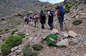 Group Walking In To Toubkal