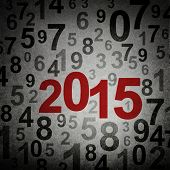 New year 2015 numbers on grunge background