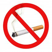 No Smoking symbol, cutout on white background