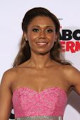 LOS ANGELES - MAR 5: Toks Olagundoye at the premiere of 'Mr. Peabody & Sherman' at Regency Village Theater on March 5, 2014 in Los Angeles, California