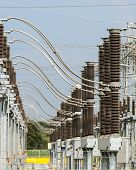 picture of substation  - The Part Of The Electric Distribution Substation - JPG