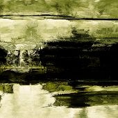 art abstract acrylic background in white, green and black colors