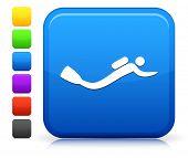 Scubadiver Icon on Square Internet Button Collection