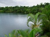 image of cenote  - a lake named Cenote Azul in Mexico - JPG