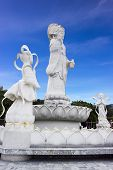 White Guanyin Statue At Hat Yai Public Park