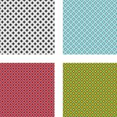 Collection Of 4 Seamless Geometrical Patterns