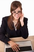 Attractive Twenties Brunette Caucasian Business Woman