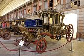 Lisbon, Portugal - June 18, 2013: Berlin Coach (18th cent. Baroque) - National Coach Museum, the mos