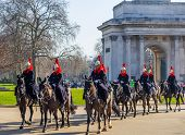 Horse Guards In London On Horseback