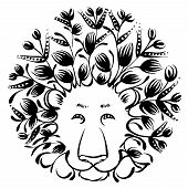 Decorative Silhouette Of Lion