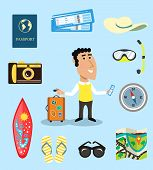 Vacation or business traveler character set