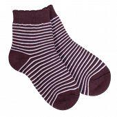 Striped socks isolated on white background