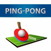 Table tennis pingpong rackets emblem