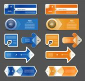 Modern infographics options banner. Vector illustration. can be used for workflow layout diagram num
