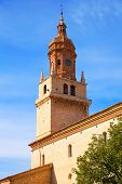Calamocha Teruel church in Aragon at Spain