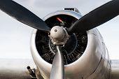 Vintage Airplane DC 3 Engine