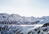 Winter Landscape Of Snow-capped Mountains Pirin