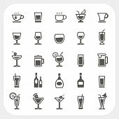 Drink And Beverage Icons Set