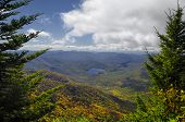 Deep Autumn View On The Blue Ridge Parkway, Nc, Usa
