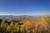 Cherohala Skyway Autumn Scenic View In Tennessee, Usa.