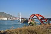 Big Suspension Bridge In Samcheonpo In Korea